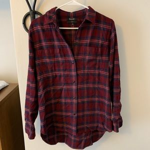 EUC Madewell classic flannel